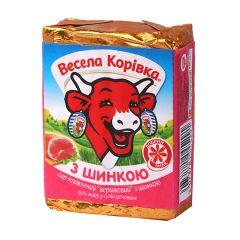 Сир пл. 43% з шинкою Весела Корівка 90г
