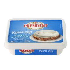 Крем-сир твор.18% в.г.President ван.180г