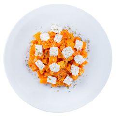 Салат з печеним гарбузом та фетою ваг