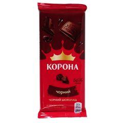 Шоколад Корона чорний без додатків 85г