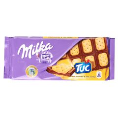 Шоколад мол.Milka з сол.крекером тук 87г