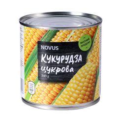 Кукурудза цукрова з/б  Novus 340г