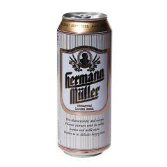 Пиво світле 4% 0,5л Hermann Muller з/б