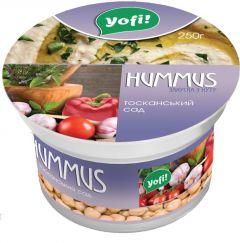Закуска Хуммус з нуту Тос.сад Yofi! 250г