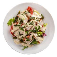 Салат зі свин.стейком,томат/корнішон.ваг