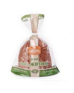 Хліб житній 100% Рум'янець 1/2 450г